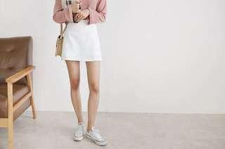 🚚 CLEARING BASIC WHITE SKORT