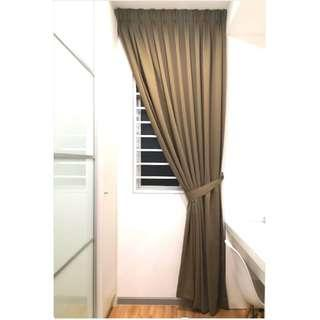 100% blackout curtain - natural brown
