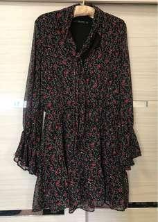 Zara 花卉洋裝