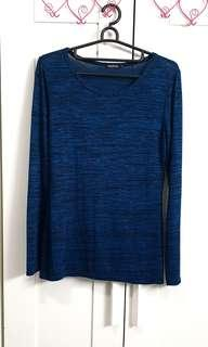 Boohoo Pretty Teal Blue India Oversized Soft Long Sleeve Top asos