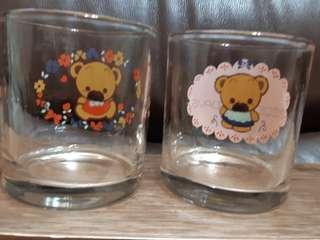 鬆弛熊玻璃杯一对