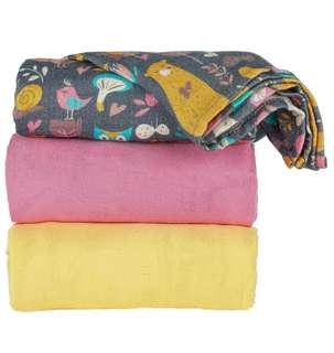 🚚 Tula Blankets Bunny Hop (only yellow is available)