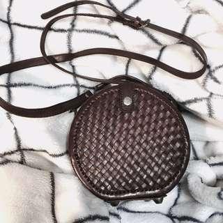 🚚 割愛💔Vintage 真皮編織包
