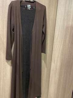 🚚 可換)設計師呂芳智假兩件羊毛長版洋裝