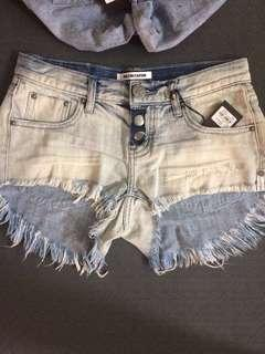 2 pairs One Teaspoon Shorts size 22