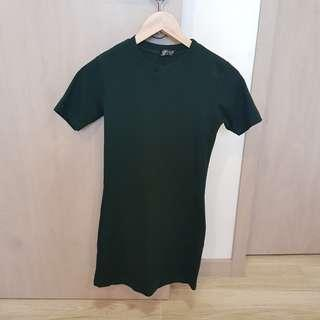 Topshop Dark Green Gems Dress Casual Work Dress Office Dress