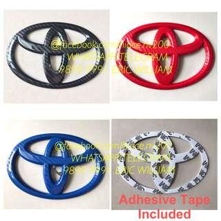 TOYOTA 3D Logo Emblem Decal / Hiace Accessories >>READY STOCKS!!