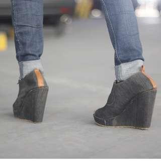 Sepatu (Wedges) Denim