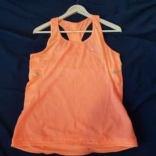 Decathlon Racerback Neon Orange Sports Top Running Top Gym Top Hiking Top Sleeveless Top
