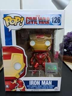 Funko Pop Iron Man Captain America Civil War Bobble Head