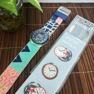 1990 POP Swatch Photofinish (PWN 101) Men's Watch