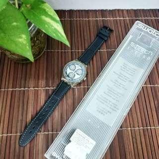 1994 Swatch Chrono Fumo Di Londra (SCK 105) Leather Strap Men's Watch