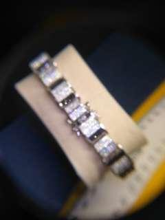 Men's custom made bracelet white and black cz stones