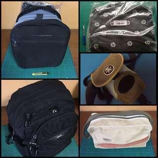 4 Items, Samsonite Puma HP Targus, Haversack Laptop Camera Bag Backpack, Used