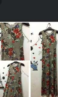 flowers strech dress