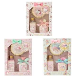 (((清貨特價$150兩盒))) 日本直送 Sanrio Hello Kitty My Melody Little Twin Star 沐浴套裝 禮盒