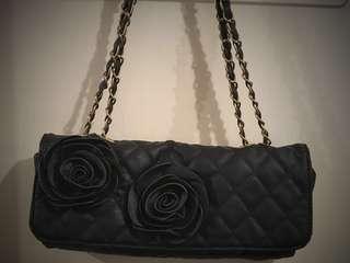 Black evening bag