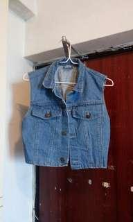 Adults Denim Vest.Made in USA.brand new