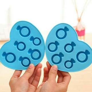 🚚 矽膠鑽石冰塊凍模具(藍色)  #半價居家拍賣會