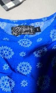 Blue tie back top
