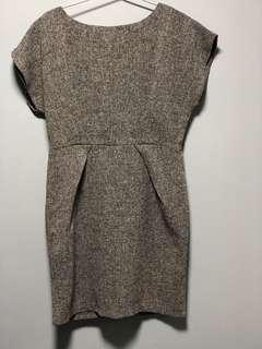 深灰色 洋裝