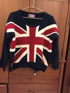 Caco 深藍英國旗毛衣