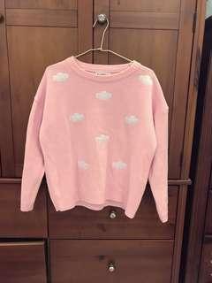 🚚 粉色雲朵毛衣
