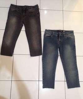 Celana jeans 3/4 @40000