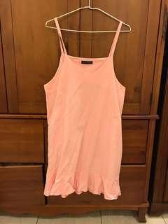 粉紅魚尾吊帶裙