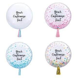 "24"" Personalised Clear Bubble Balloon"