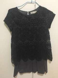 深灰色蕾絲裙~ size 9-10
