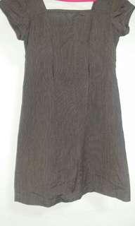 Pinstripe tailored dress