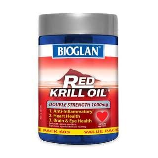 Bioglan Red Krill Oil 1000mg 60 Capsules