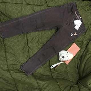 Color box jeans 3/4 sekali pakai