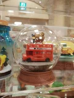 Rilakkuma 鬆弛熊 玩具 英國倫敦風巴士 水晶球