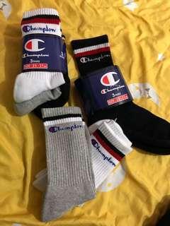 Champion Socks 一set3對 (黑白灰)size25-27