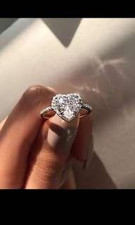 Heart Diamond Inspired Ring