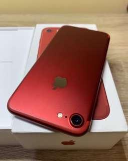 🚚 IPhone 7 128 Red 💋「限量」 9成6新 包膜私下
