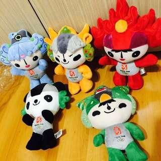 🚚 北京絕版奧運娃娃❤️