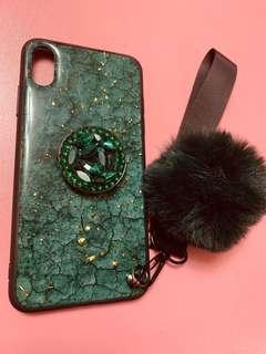 Iphone XS Max Case with embellished pop socket