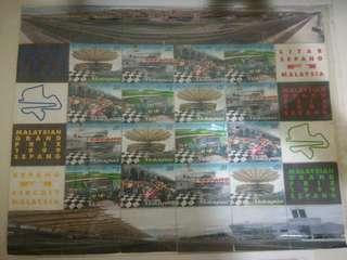 Malaysian Grand Prix 1999 - F1 Circuit Stamps