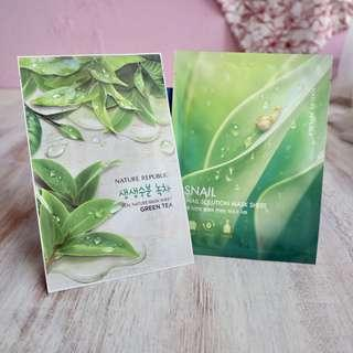 Nature Republic Sheet Mask Green Tea & Snail
