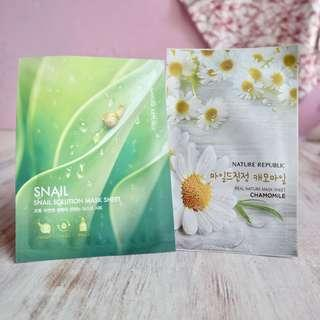 Nature Republic Mask Sheet Chamomile & Snail