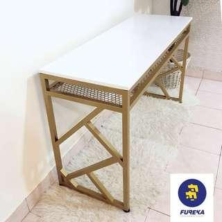 Console table gold color
