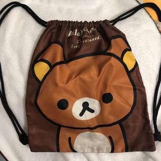 拉拉熊束口袋背包
