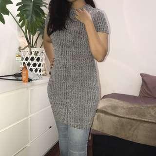 Morning Mist Grey Bandage Dress