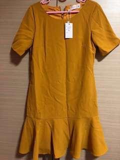*BRAND NEW Neonmello Sleeve Work Dress in Mustard