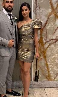 bianca & bridgette gold dress