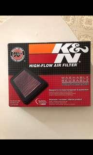K&N air filter fd1 fd4
