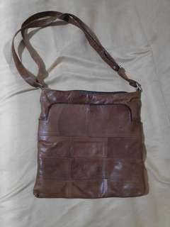 Brown Genuine Leather Sling Bag